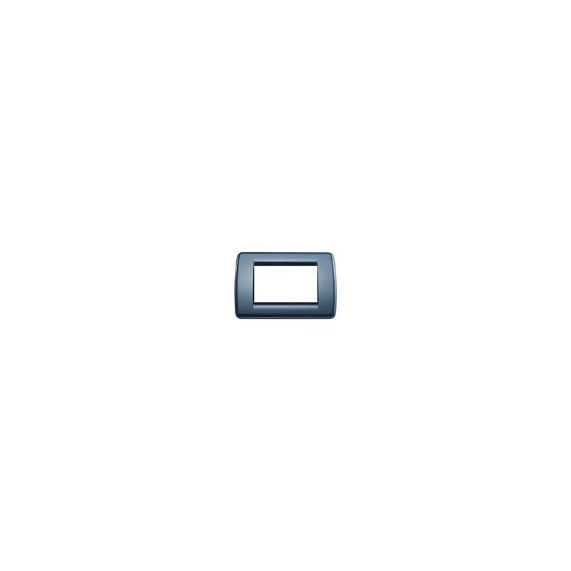 PLACCA VIMAR IDEA RONDO/' 16764.16 TECNOPOLIMERO NERO 4 MODULI