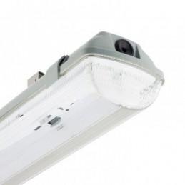 LK plafoniera stagna 2x36 IP65 cablata per due tubi LED 1200 mm