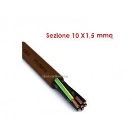 Cavo elettrico multipolare per segnalamento FS18OR18 10G1,5 mm